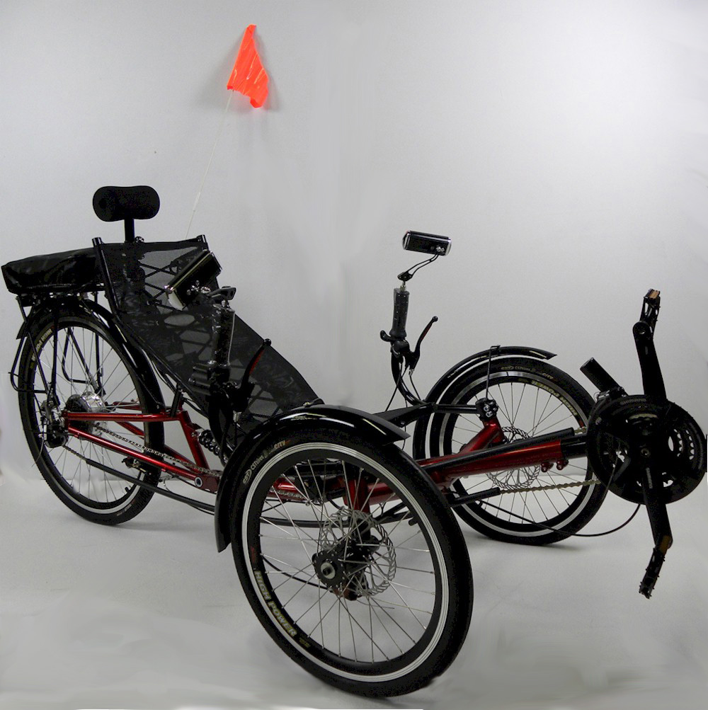 ERT-36 Folding Electric Recumbent Tricycle