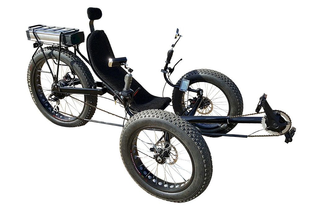 Fat Tire Folding Electric Recumbent Tricycle